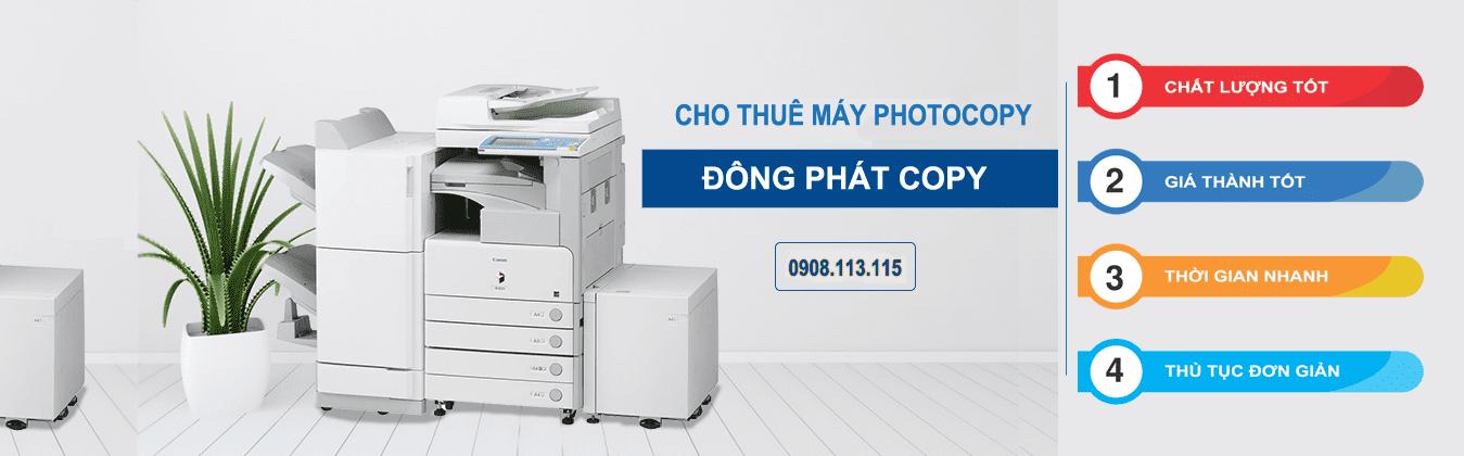 Banner cho thuê máy Photocopy tại HCM